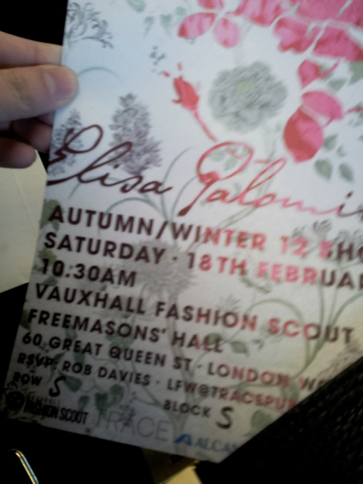 My first LFW invitation