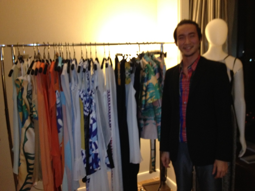 Winson Tan showing his SS13 NOSNIM collection
